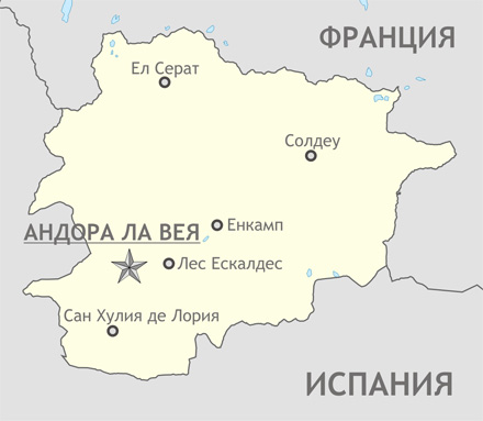 Карта на Андора