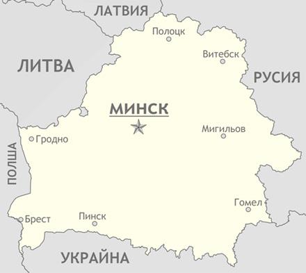 Карта на Беларус