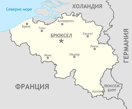 Карта на Белгия