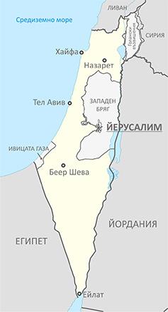 Карта на Израел