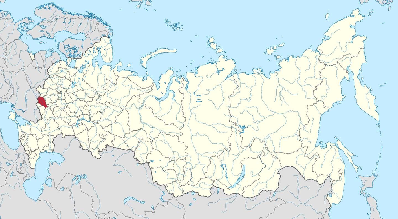 Карта на Русия