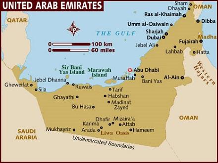 Карта на ОАЕ