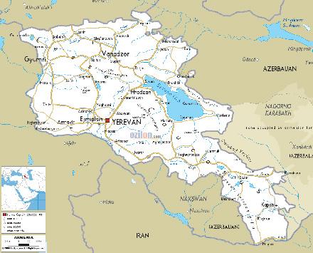 Карта на Армения