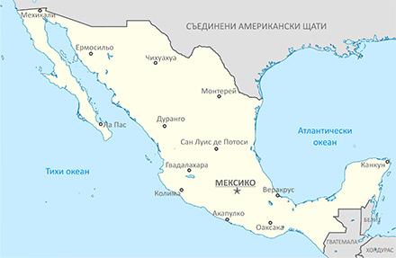 Карта на Мексико