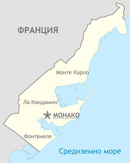 Карта на Монако