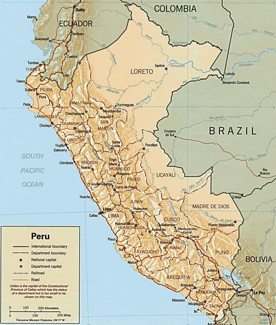 Карта на Перу