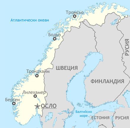 Карта на Норвегия