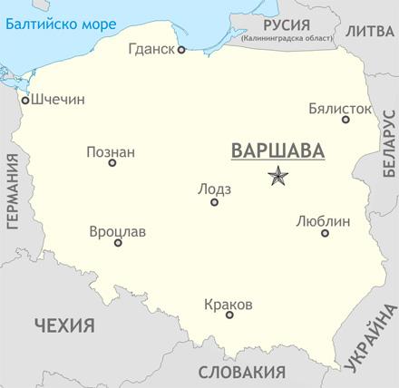Карта на Полша
