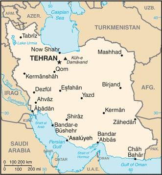 Карта на Иран