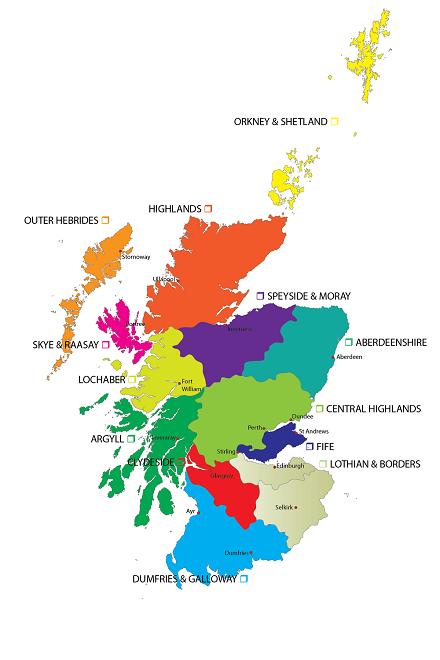 Карта на Шотландия