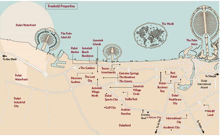 Карта на Дубай