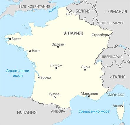 Карта на Франция