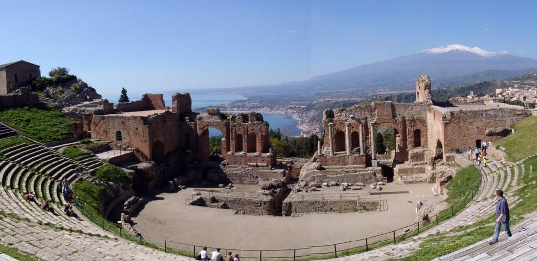Античният театър в градчето Таормина
