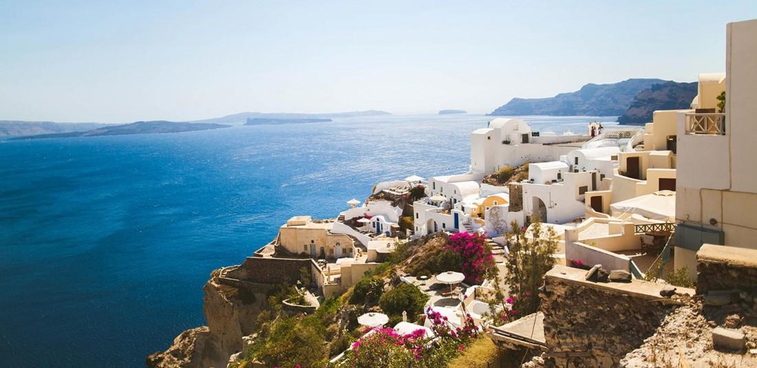 Остров Санторини - с полет от Солун